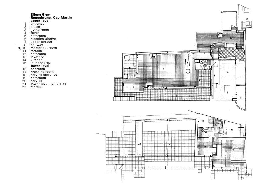 eileen gray e1027 floor plan - photo #2